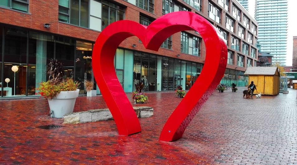 Distillery District Love Sculpture