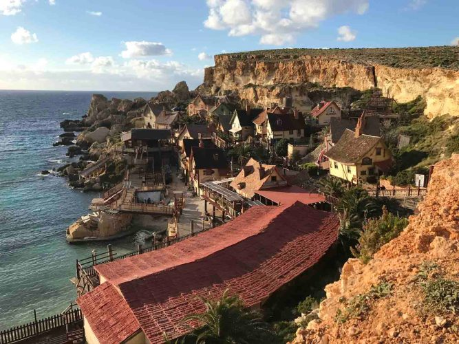 View from Popeye Village in Malta