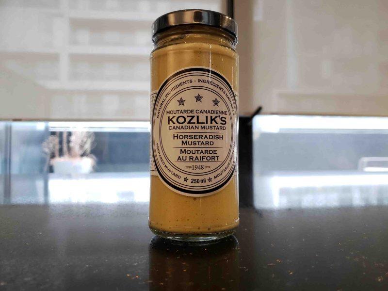 Kozlik's Horseradish Mustard for a beet burger