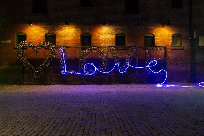Love Sign at the Distillery District, Toronto