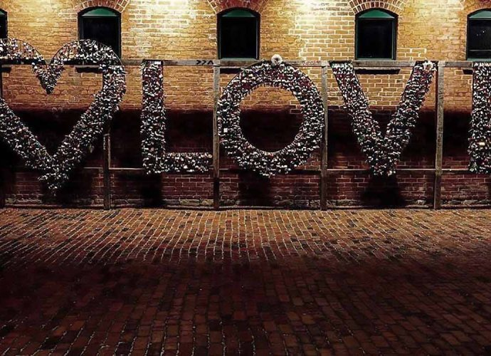 Love Sign Distillery District for Valentine's Day