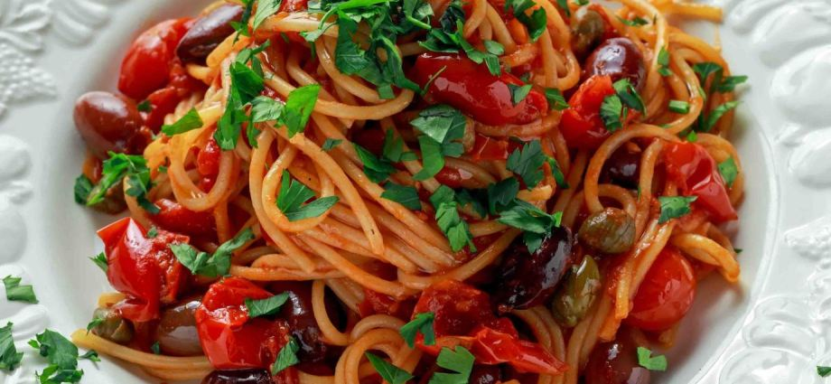 spicy spaghetti - vegan and gluten-free