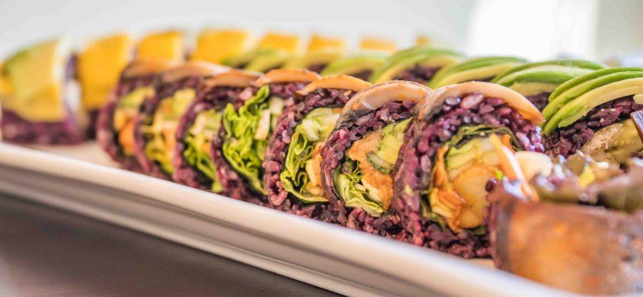 gluten-free vegan sushi platter