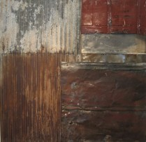 """Boxcar Willy. Brandon Long. 42x42"""" Collection of Mark and Susie Allen."""