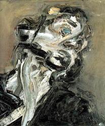 Frank Auerbach (British, b. 1931), Head of J.Y.M. II, 1984-85. Oil on canvas.