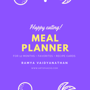 Meal planner for 12months