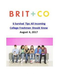 Brit + Co _ 6 Survival Tips All Incoming College Freshmen Should Know