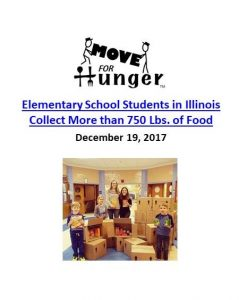 Move for Hunger_Elementary School Students Collect More than 750 Pounds of Food