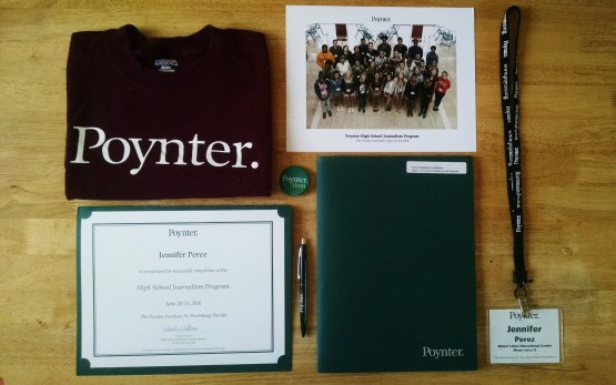 While I brought home a lot of memories from Poynter, I also brought a lot of physical things.