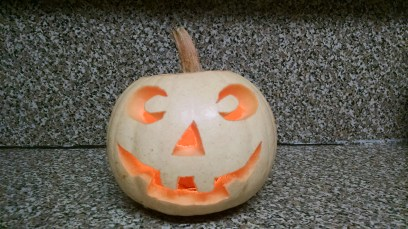 Goodbye happy pumpkin.