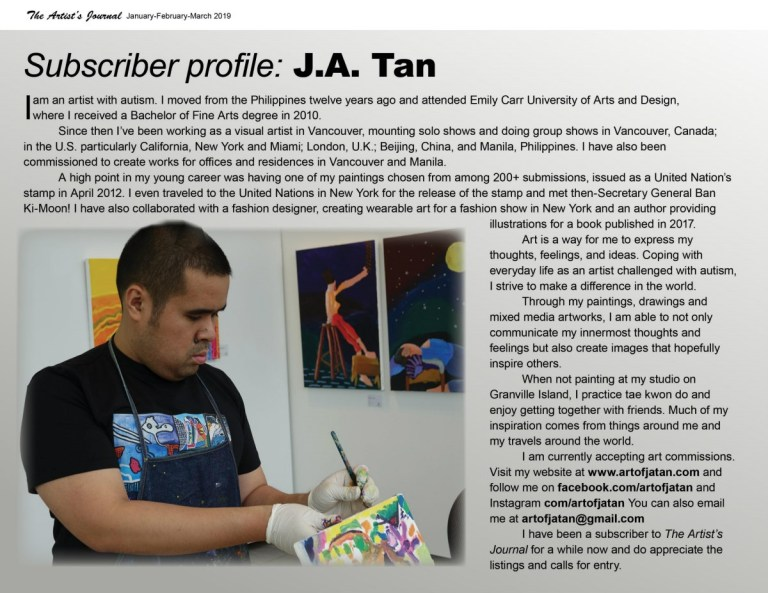 J.A. in The Artist's Journal