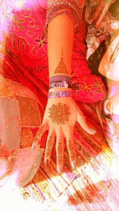 Extended Mandala Hand Henna