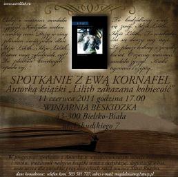 Plakat wieczoru autorskiego Ewy