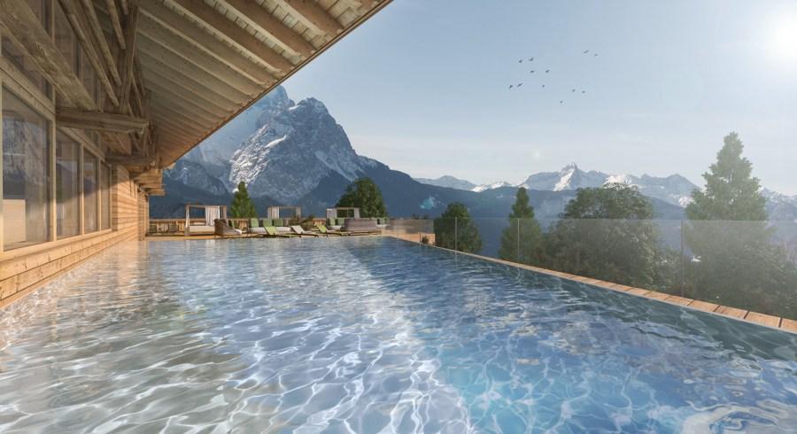 Der Rooftop-Pool mit atemberaubender Aussicht.