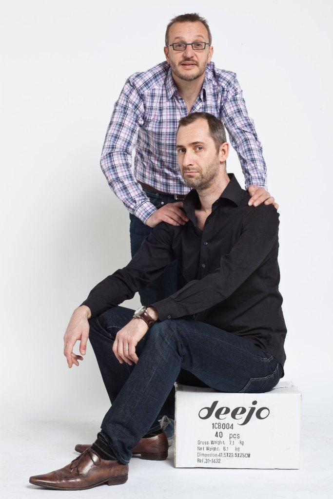 Luc Foin und Stéphane Lebeau - die Gründer von DEEJO Messern