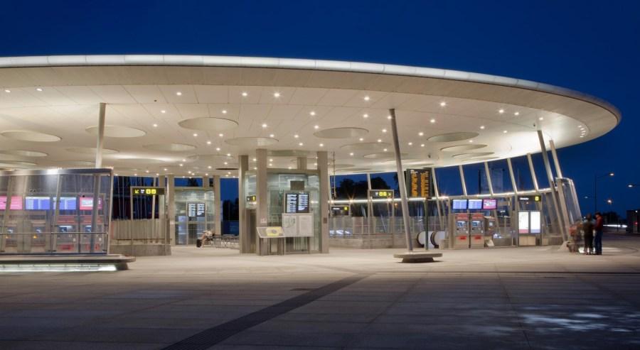 Metro Bahnhof Hyllie Malmö Detail