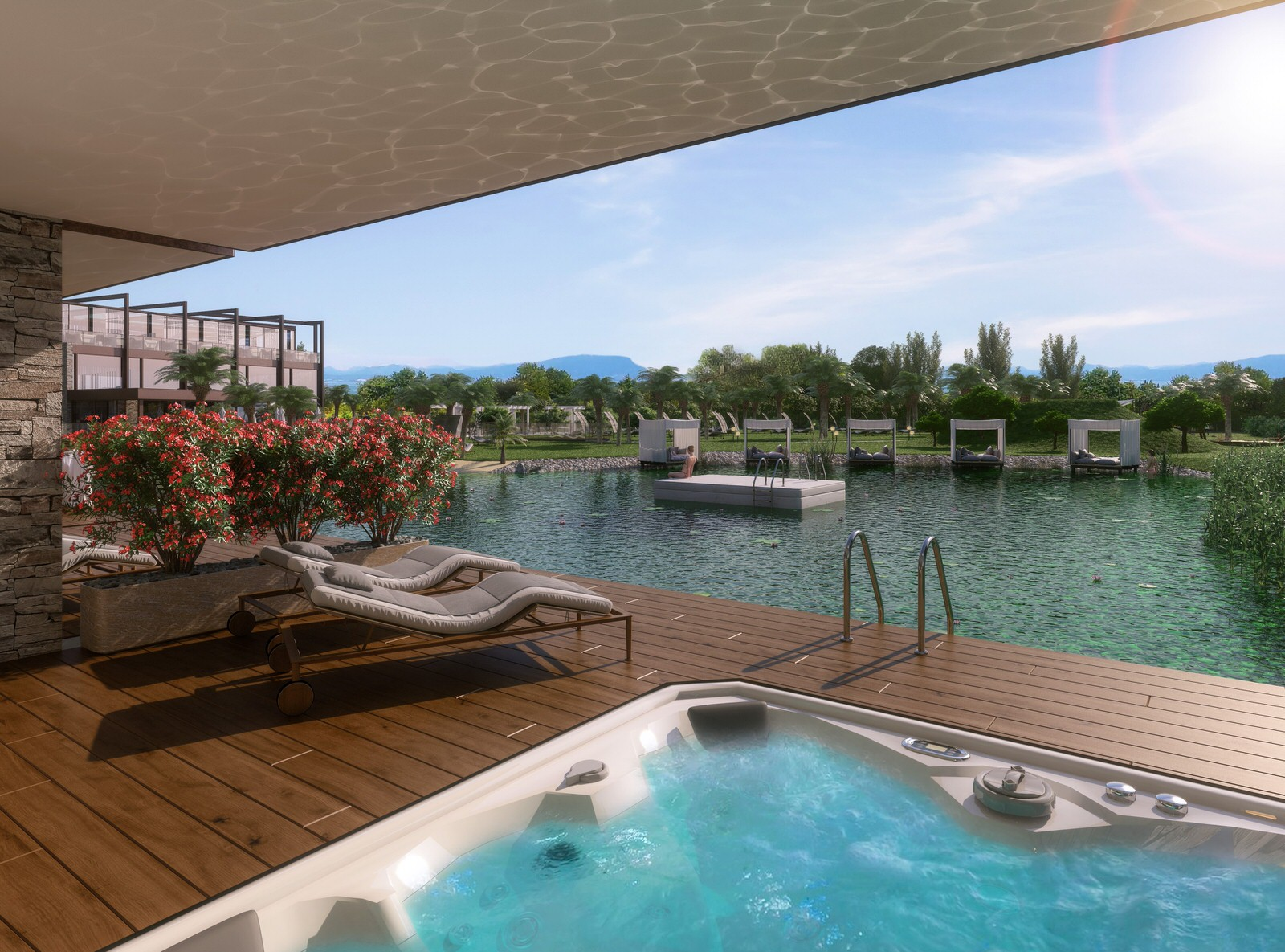 Quellenhof Terrasse Giardino al Lago Luxury-Resort Lazise