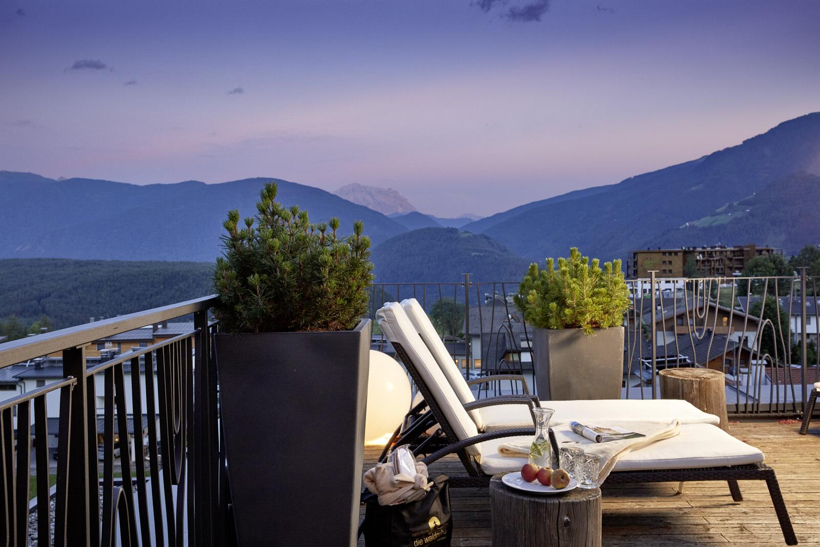 Dachterrasse mit Dolomiten Blick