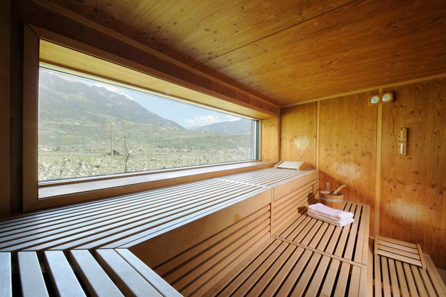 Finnische Sauna mit einzigartigem Panoramablick im Bio und Wellnesshotel