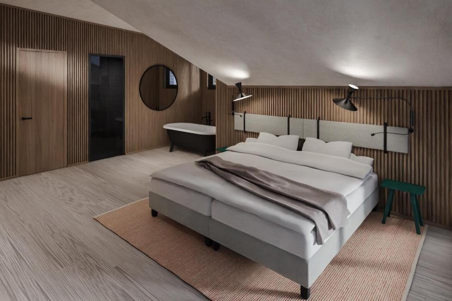 Helle, klar und reduziert gestalteten Zimmern & Suiten.