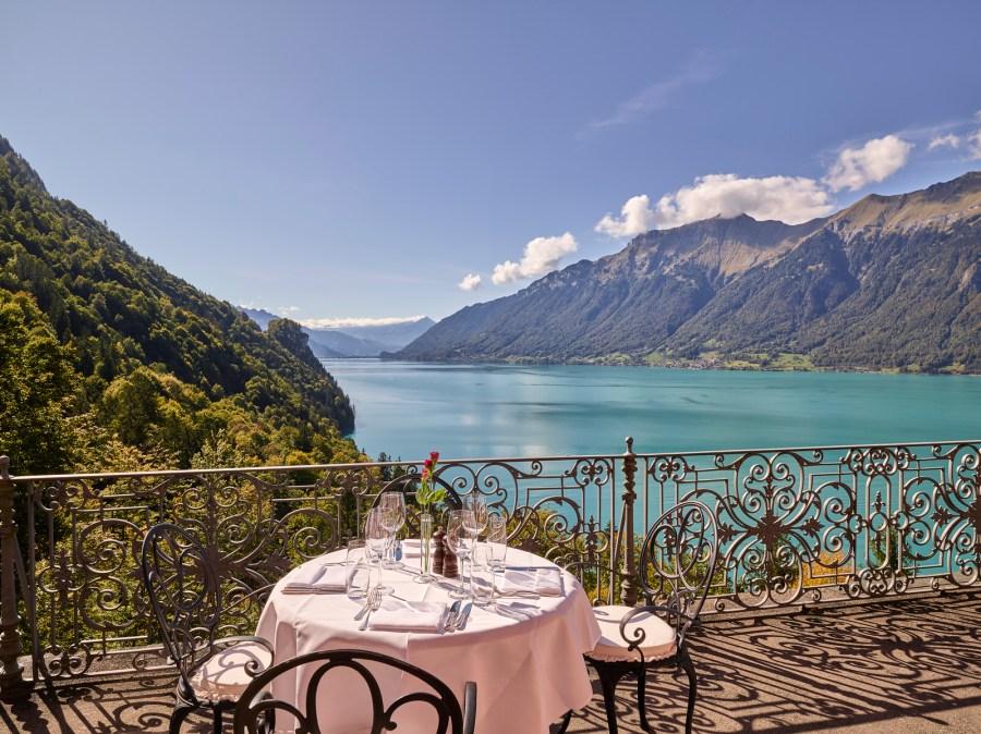 Grandhotel Giessbach Suiten mit Blick auf den See