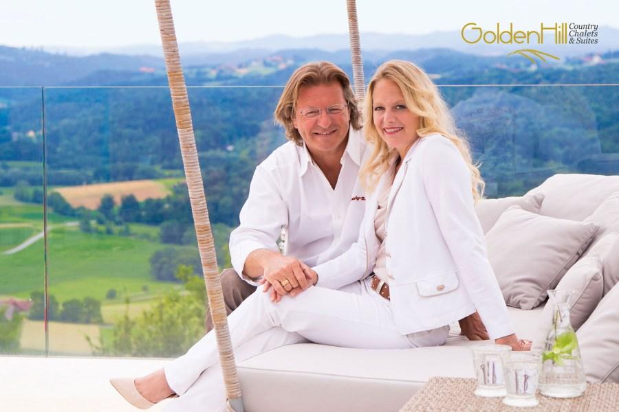 Gastgeber im Golden Hill: Barbara und Andreas Reinisch