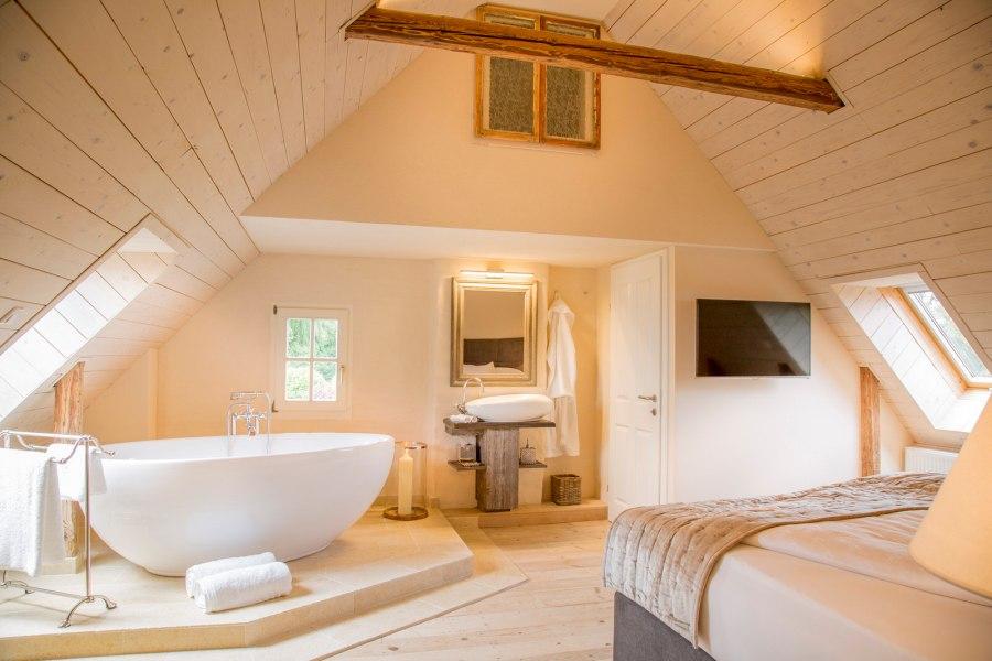 Schlafzimmer im Chalet Steinfuchs