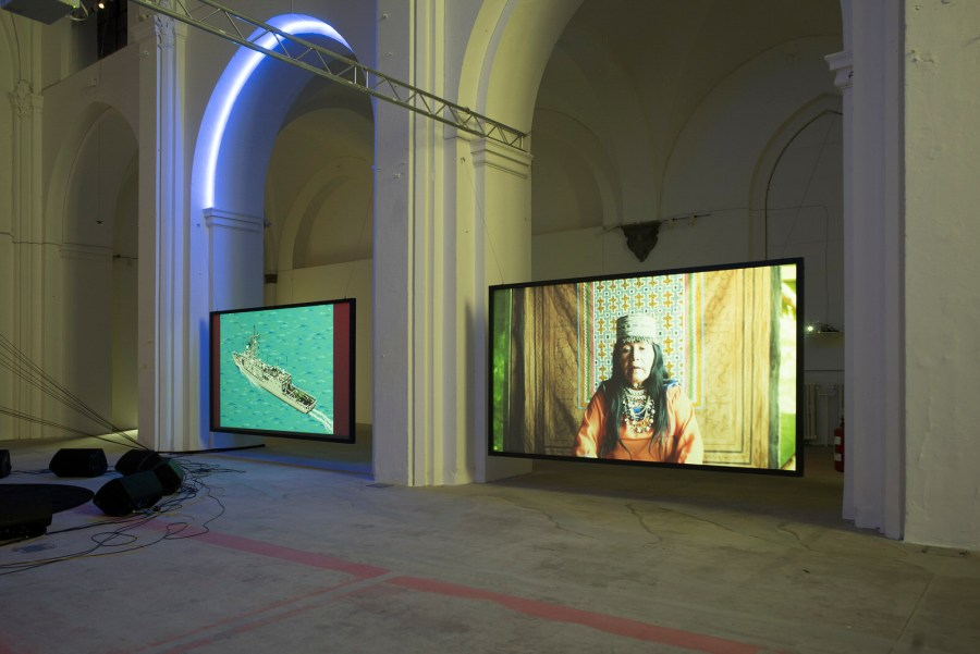 Haroon Mirza, Installation view, Dancing with the Unknown.