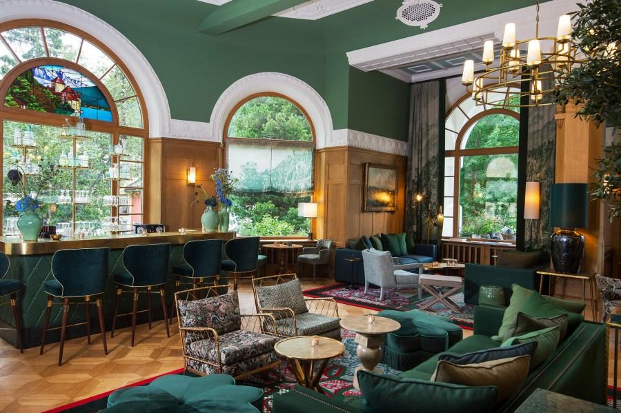 Lobby im Hotel Walther.