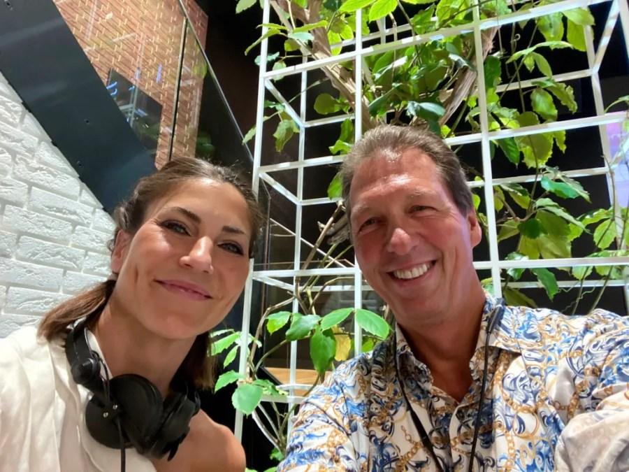 DJ Freya mit Daniel Chardon