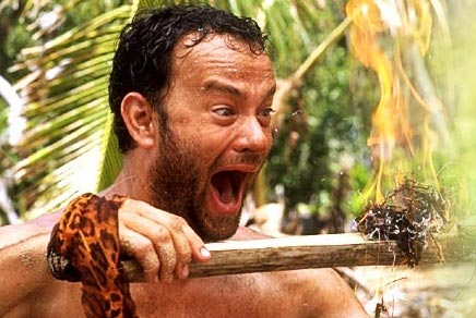 Tom Hanks Starting a Fire Without Matches