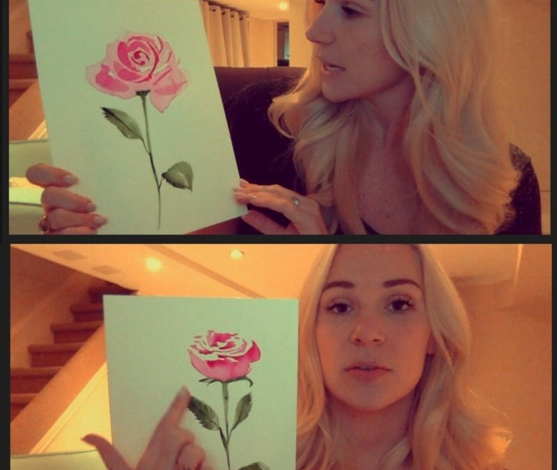 Paint a Rose for someone you love…