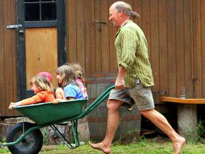 Children Barrow village green