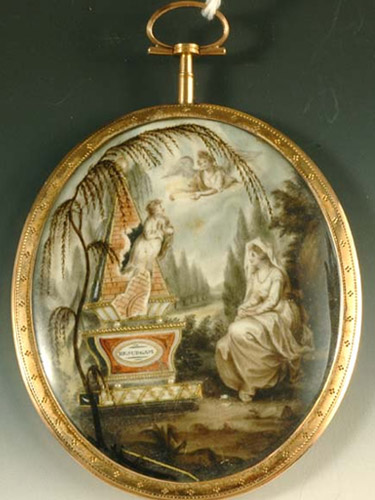 18th century mourning miniature