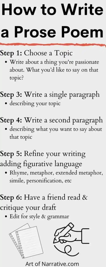 How to write prose poetry