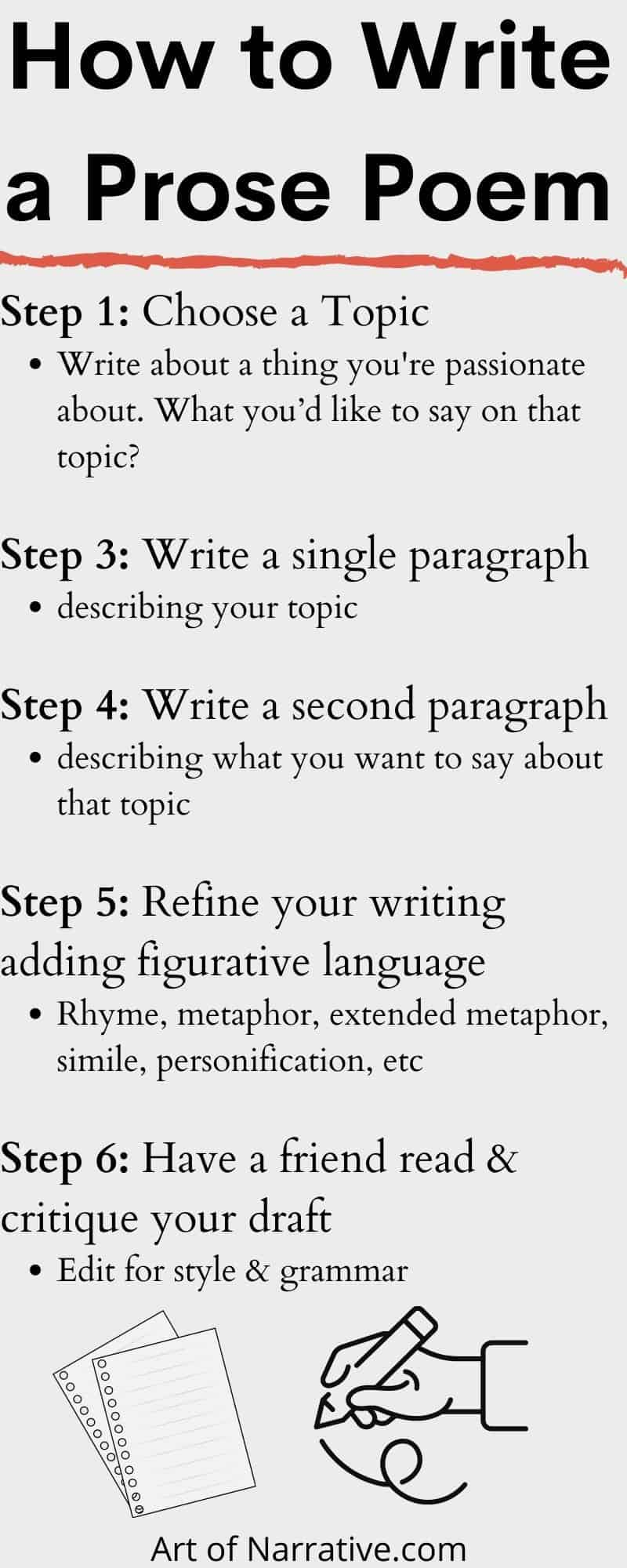 How to Write Prose Poetry: a Six Step Guide - The Art of Narrative