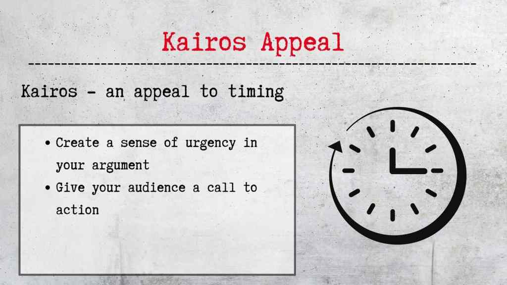 Kairos appeal