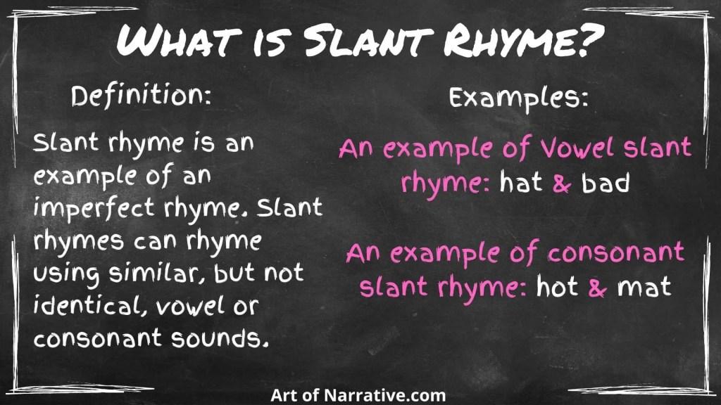 what is slant rhyme?