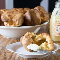 Blender Popovers - Half White Whole Wheat!