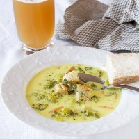 Healthier Broccoli Cheese Soup