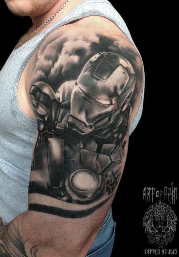 Тату Железный человек - фото, эскизы татуировки Железный ...