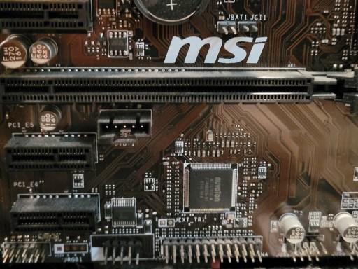 PCIe Slots on MSI motherboard