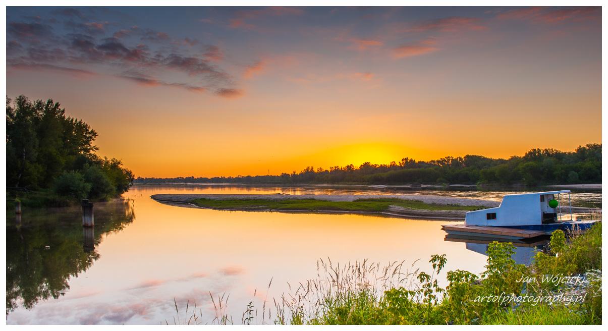 Poranek w Gassach, Wisła, wschód słońca
