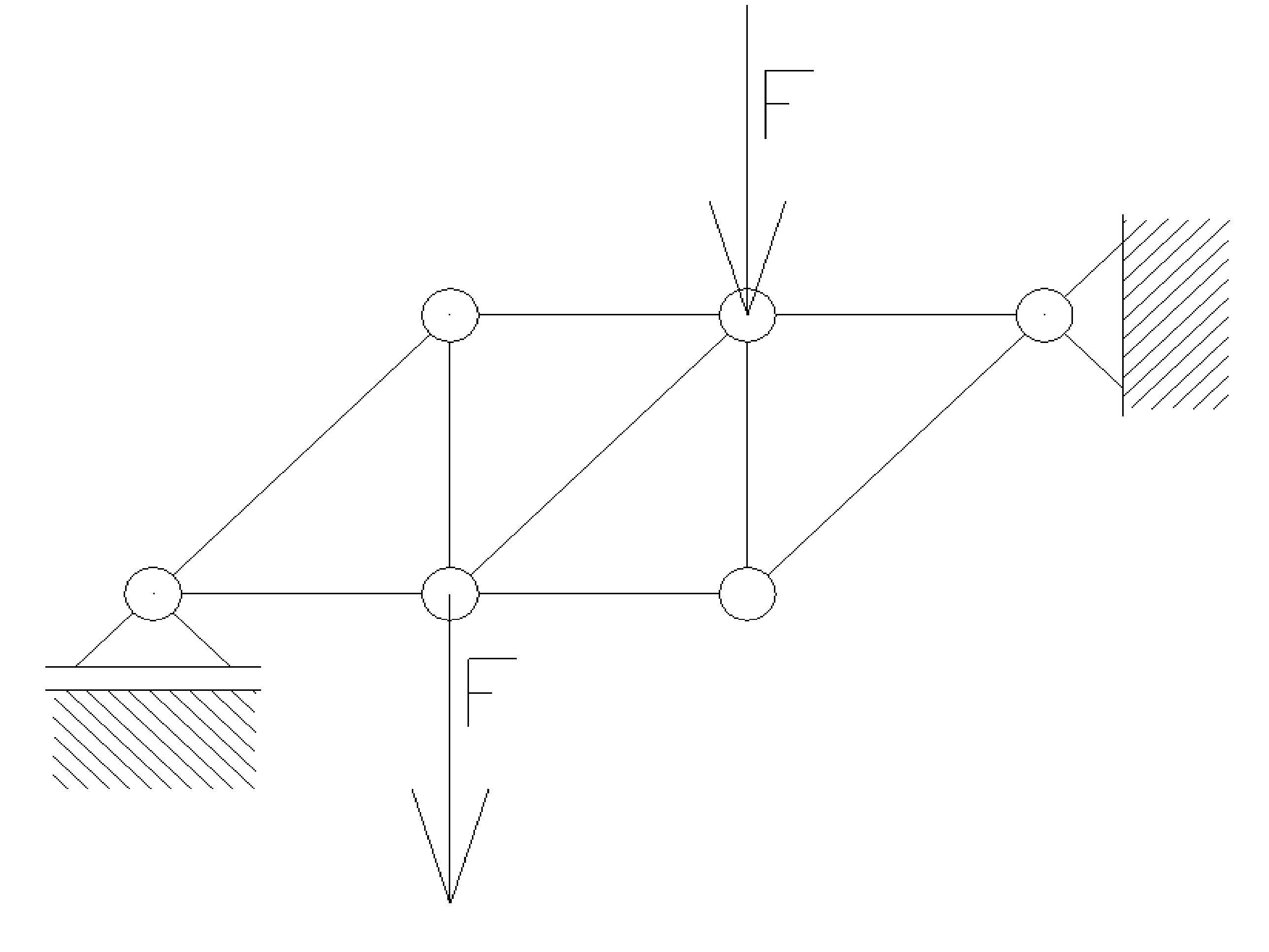 statyka14 - Kratownica płaska - metoda równoważenia węzłów - zadanie 22