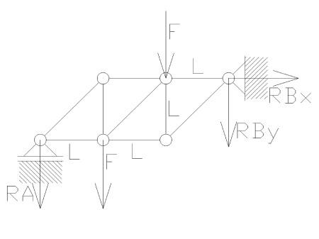 statyka15 - Kratownica płaska - metoda równoważenia węzłów - zadanie 22