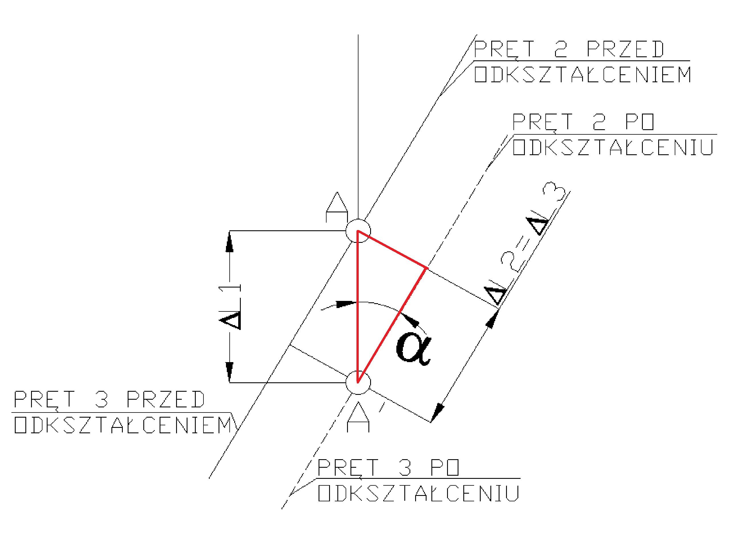 rozciaganie14 - Układ prętowy statycznie niewyznaczalny - zadanie 27