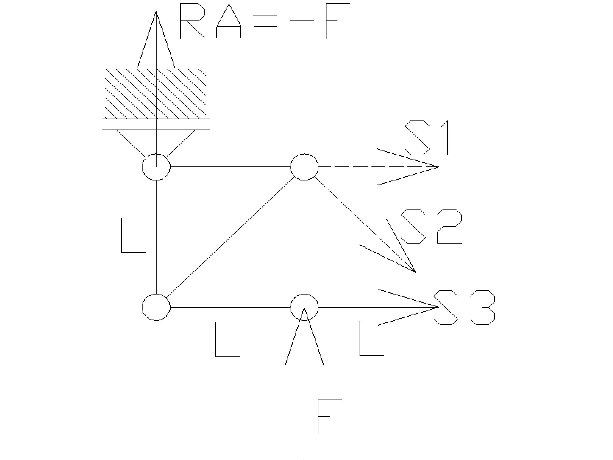 rozciaganie18 - Kratownica - metoda przecięć - statyka -zadanie 28