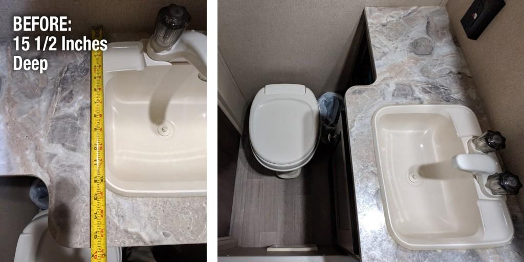 How To Squeeze More Space Out Of A Tiny Rv Bathroom Artofrv Com