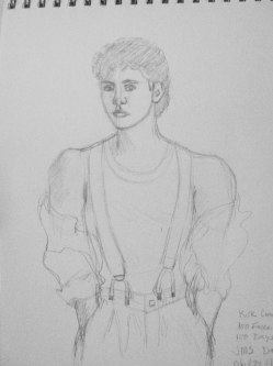 Kirck Cameron portrait in progress