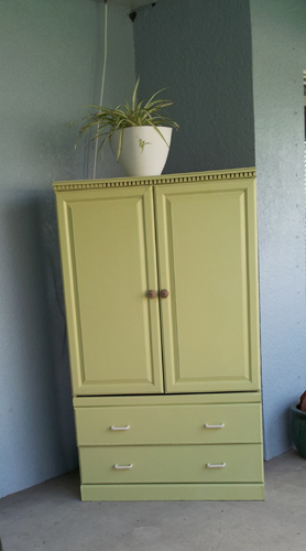 Transforming an Armoire for Outdoor Use